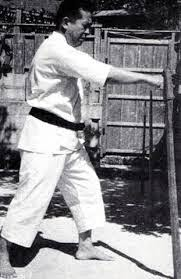 Yuchoku Higa Sensei Striking the Makiwara